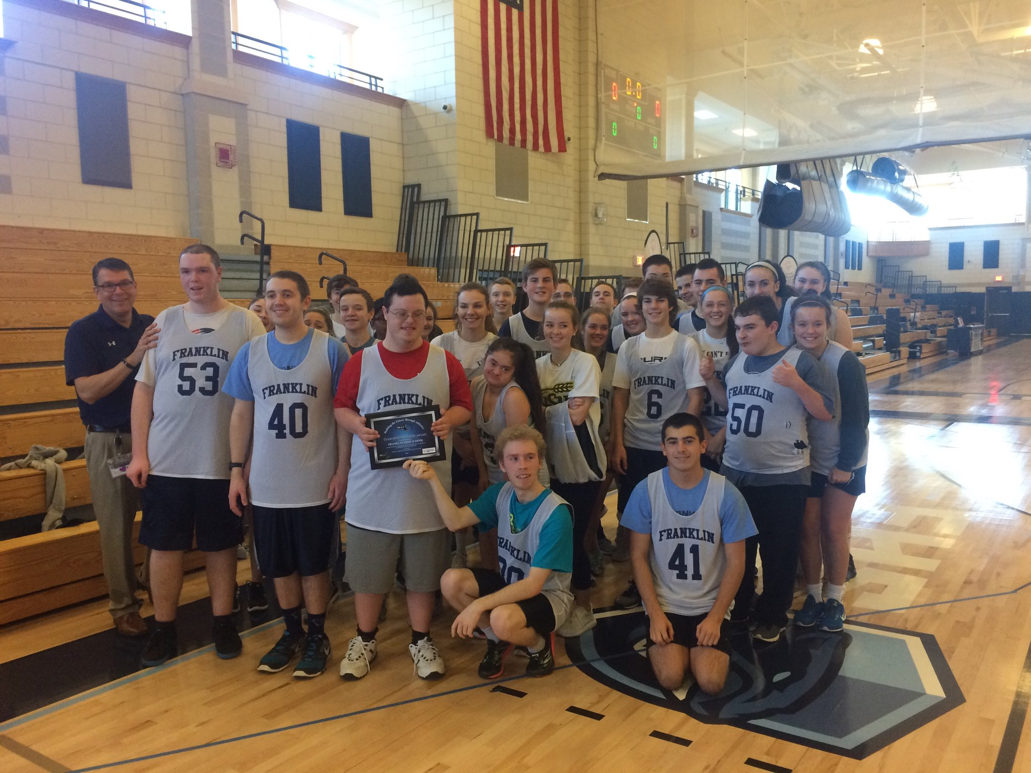 Wrapping up the @fhs_unified bball jamboree by winning the sportsmanship award.   It doesn't get better than that!!