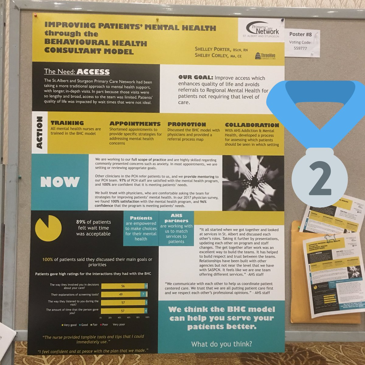 Three Hive Consulting On Twitter High Five To Saspcn For Winning Second Place At The 2017apcc Poster Competition Find Out More About Behavioural Health Consultation At Https T Co Aatemybpg2 Https T Co Qqtkakxii7