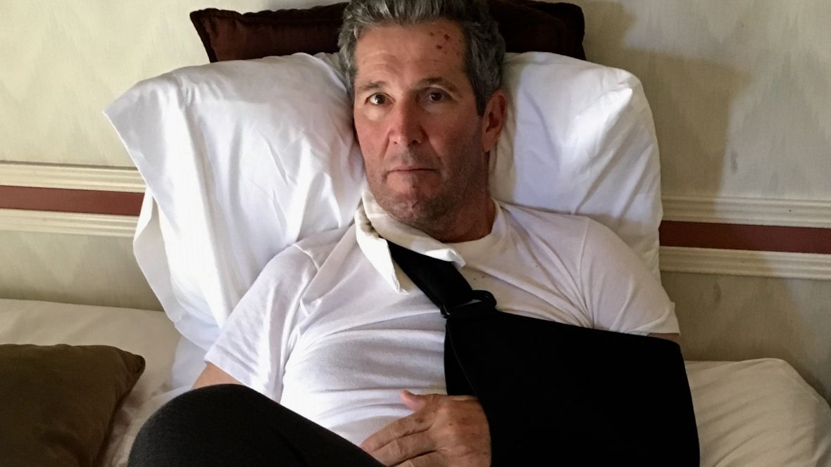 Brian Pallister and wife explain how he got lost and broke arm on New Mexico hike https://t.co/Rkljvq5cNJ