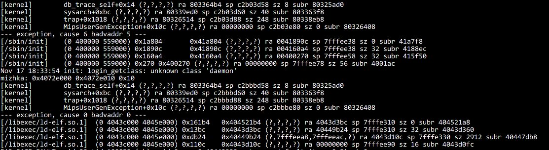 #FreeBSD cheat: use db_trace_self() in kernel code to print stack trace from syscalls / device drivers. <br>http://pic.twitter.com/Z4Q5q9ATDH