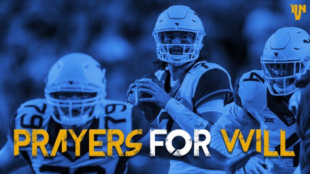 RT to send a prayer to #WVU QB Will Grier <br>http://pic.twitter.com/EwlNb3YgY5