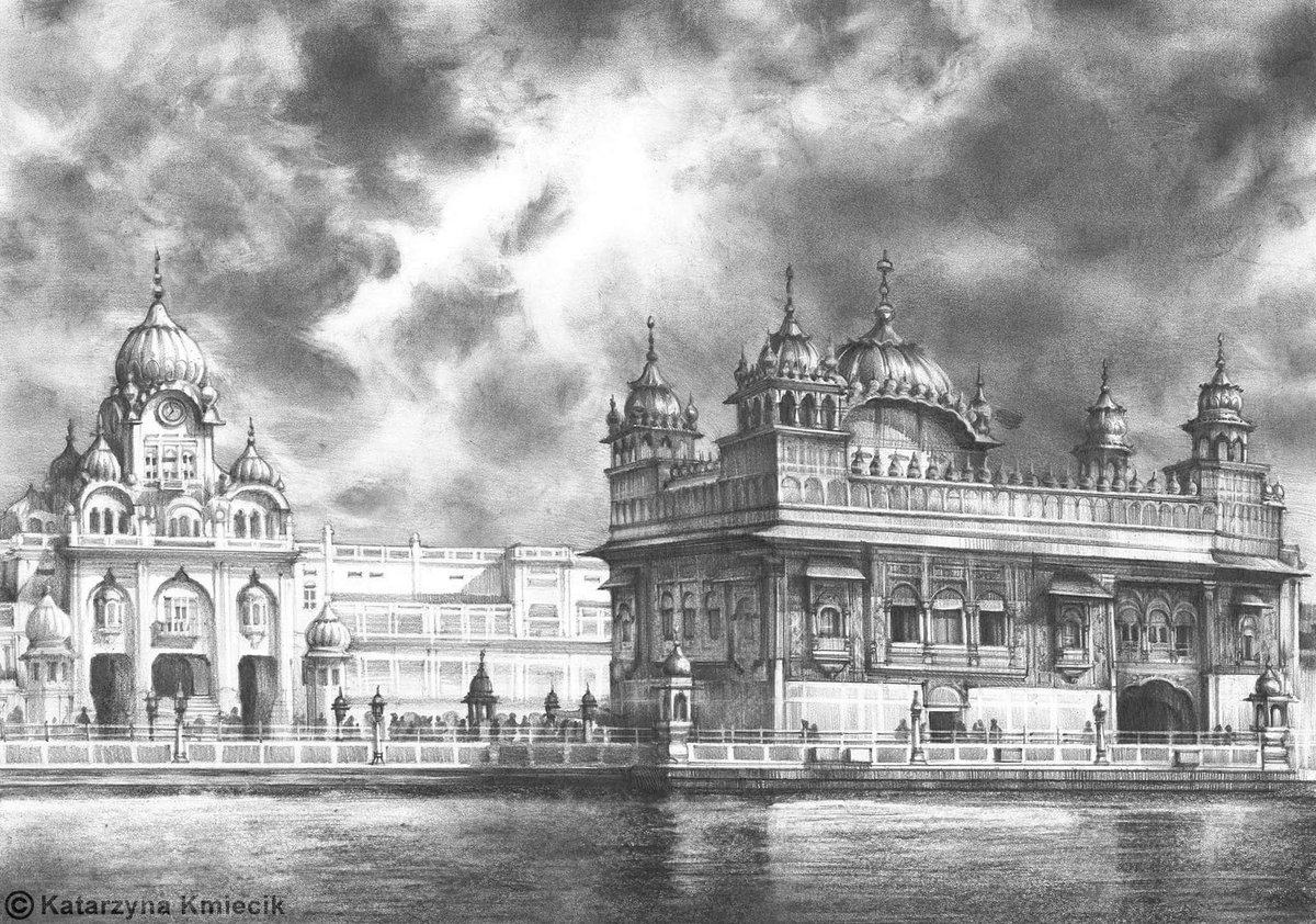 New #pencil #drawing of the Golden Temple (A3). Let me know what you think   #architecture #perspective<br>http://pic.twitter.com/nDZk7rZ1pS