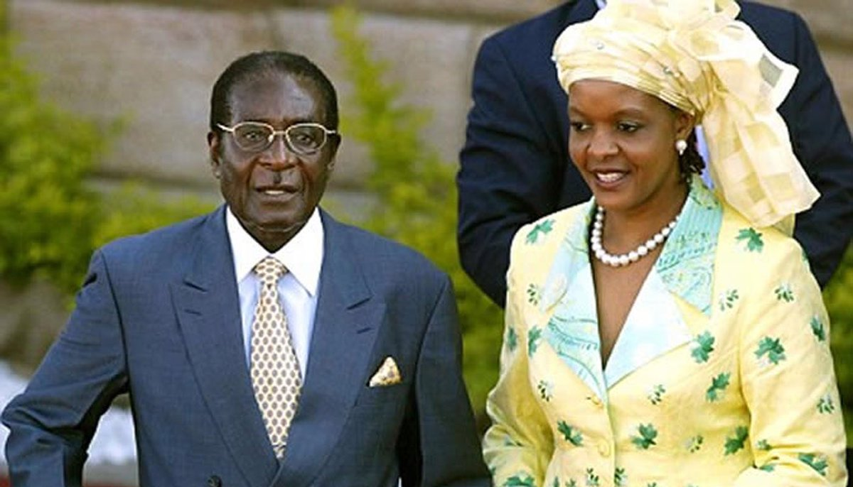 Which are the similarities between Mugabe and Trump... besides that both married a much younger woman? I bet you can find at least three. Let's try! #tcot #tlot #ccot #maga #gop #potus #pjnet #2a #p2 #uniteblue #obama @realDonaldTrump<br>http://pic.twitter.com/wjih4qCMlV