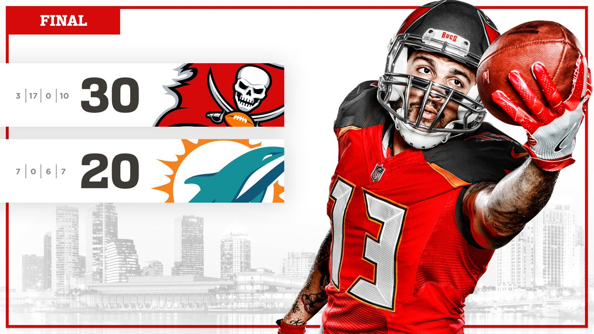 Bucs are victorious in Miami! https://t....