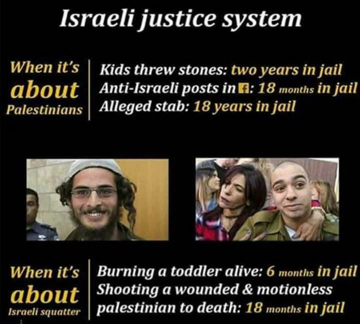 Here is the Concept of #Justice in the only Democracy in the Middle East Surely the bitter defenders of this entity will accuse us of antisemitism, is not it? #GroupPalestine <br>http://pic.twitter.com/tsNkvc8rJV