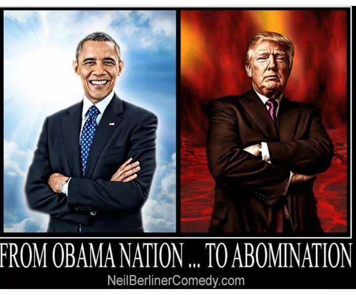 THE JUXTAPOSITION is alarming. #Obama vs #Trump <br>http://pic.twitter.com/uz1EJxoRa0
