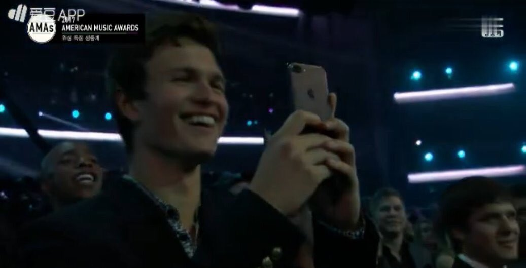 ANSEL IS ME WATCHING THE PERFORMANCE, IM...