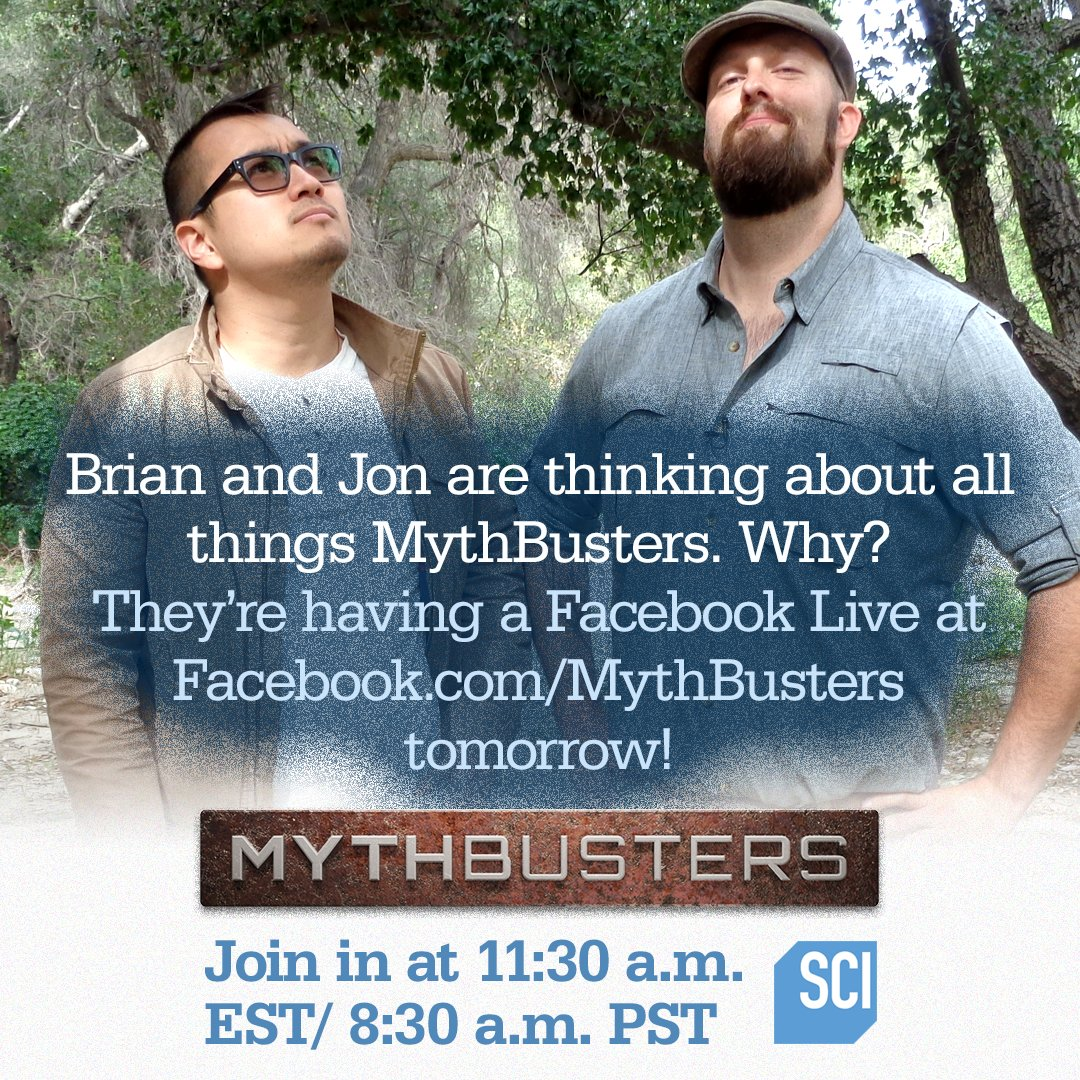Set those reminders! You've got a Facebook Live with @BSForgery and @jonjuhanlung  to join tomorrow! #MythBusters