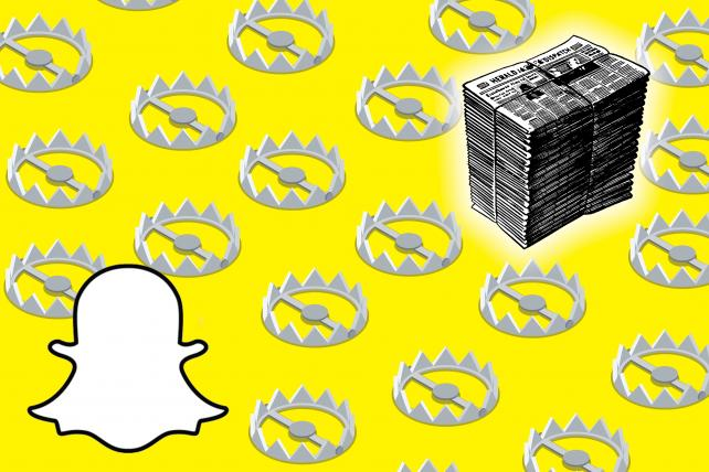 Disgruntled Snapchat publishers look eagerly to redesign https://t.co/fNYPStBL2R https://t.co/Z6bfOvj2zz