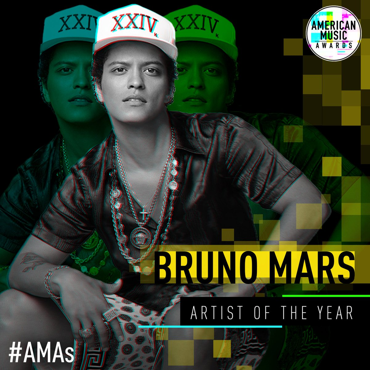 RT @AMAs: Drumroll please.... 🥁 🥁 🥁  Your #AMAs Artist of the Year is @BrunoMars ! Congratulations! https://t.co/D1jomdSeEO
