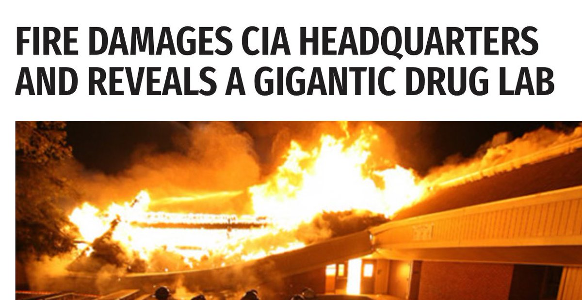 Sorry what? The #CIA had a giant meth lab that exploded in February? They even had a nice little storage room. Thanks for the reminder @favoriteauntssi #DrainTheSwamp   http:// worldnewsdailyreport.com/fire-damages-c ia-headquarters-and-reveals-a-gigantic-drug-lab/ &nbsp; … <br>http://pic.twitter.com/LKO4LaNFbT