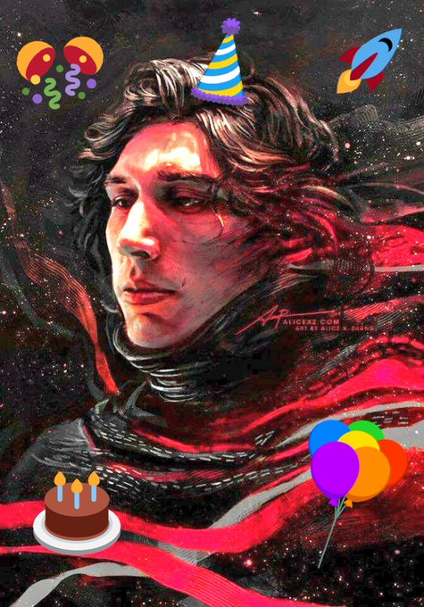 Happy 34th birthday kylo ren aka Adam driver