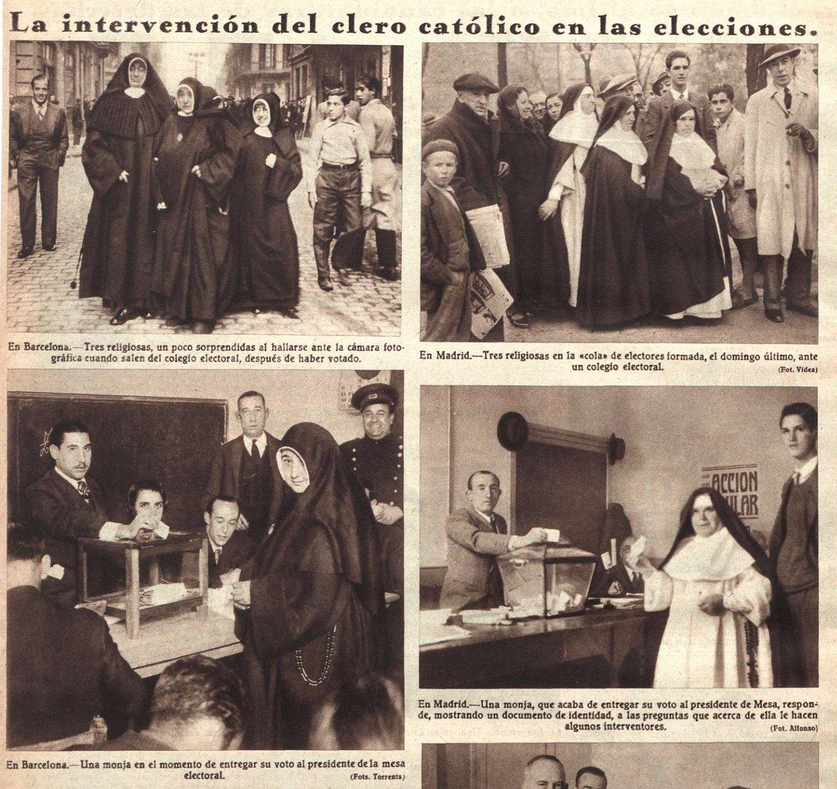 Las primeras monjas votando