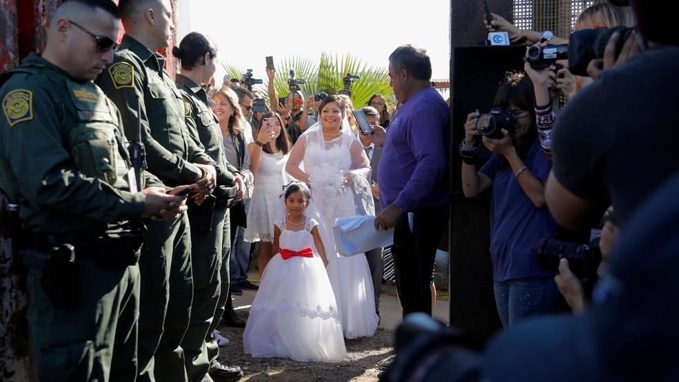 crossborder wedding held as california door of hope
