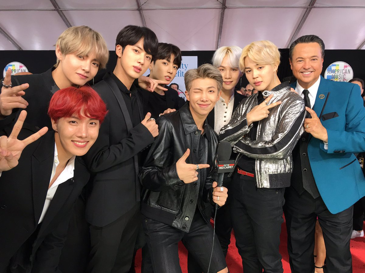 Yep--I got @BTS_twt on the red carpet at...