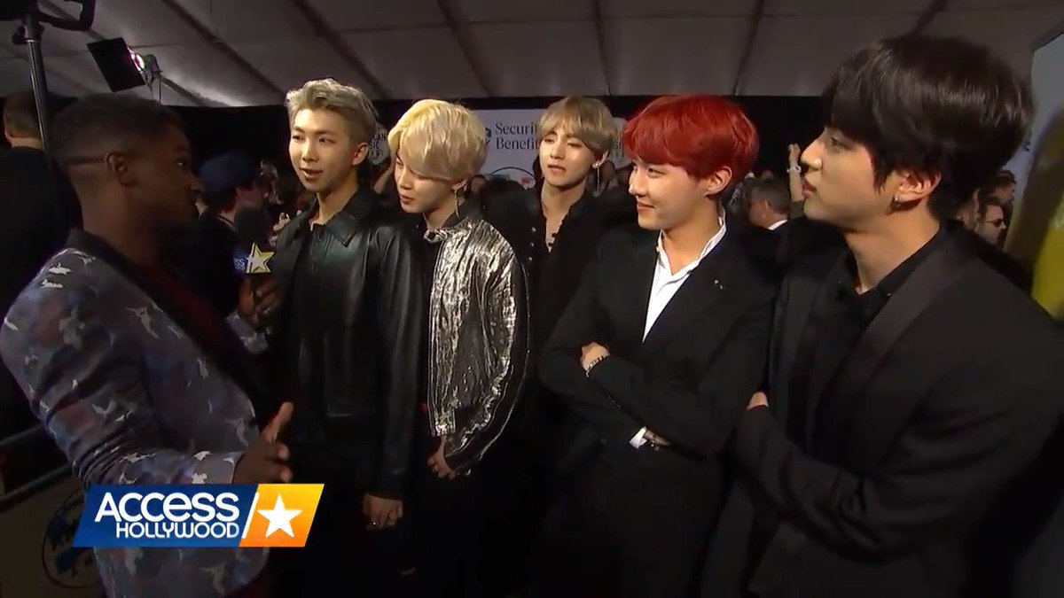 Watch the boys of @BTS_twt find out @NiallOfficial caught their #AMAs rehearsal and is a HUGE fan! #BTSxAMAs