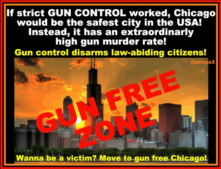 If GUN CONTROL worked, Chicago wd be safest city in WORLD... instead of MURDER CENTRAL! #PJNET #2A #COSProject #Constitution <br>http://pic.twitter.com/p4reN1lO4u
