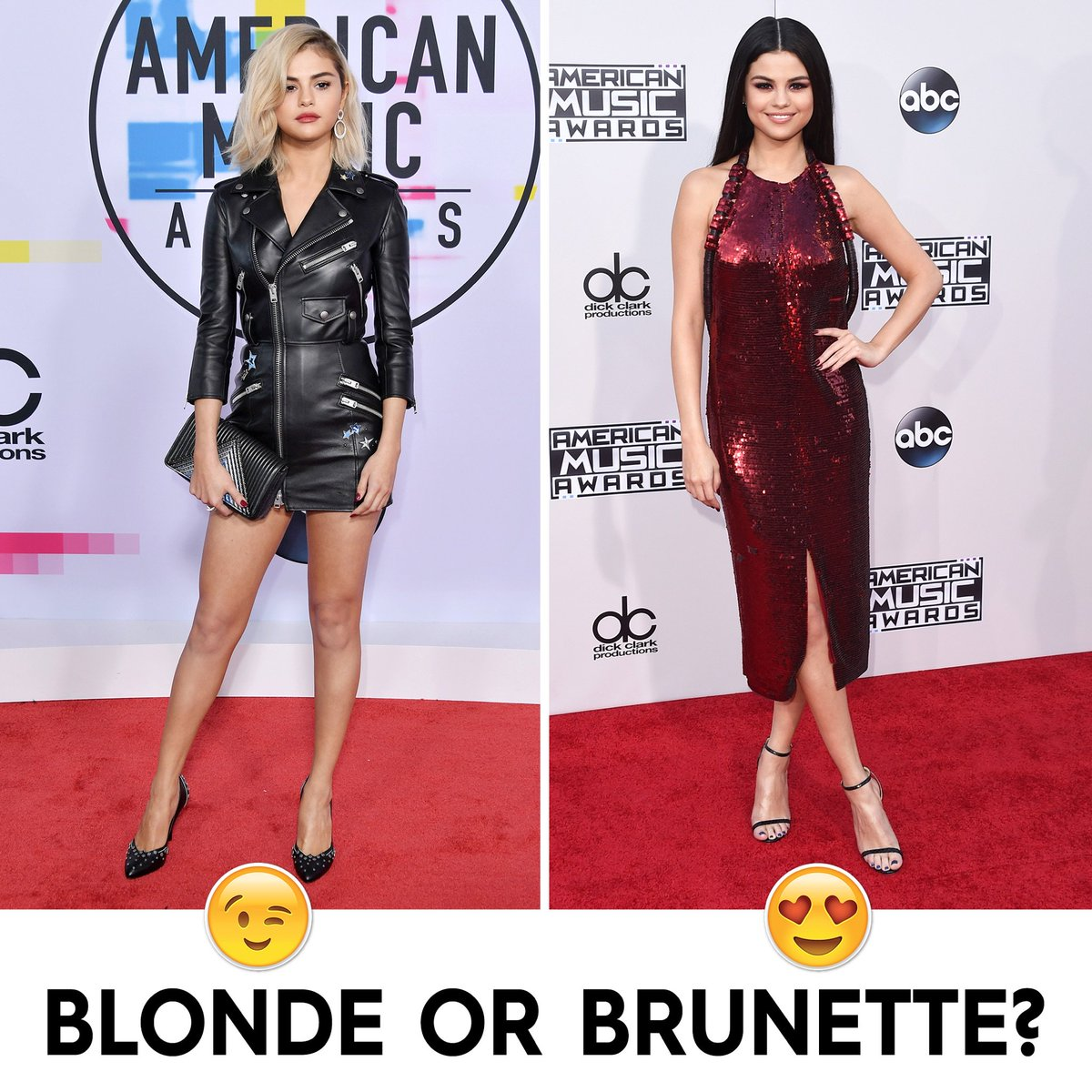 RT @iHeartRadio: Which look do you prefer? #AMAs https://t.co/hHpicoeIS1