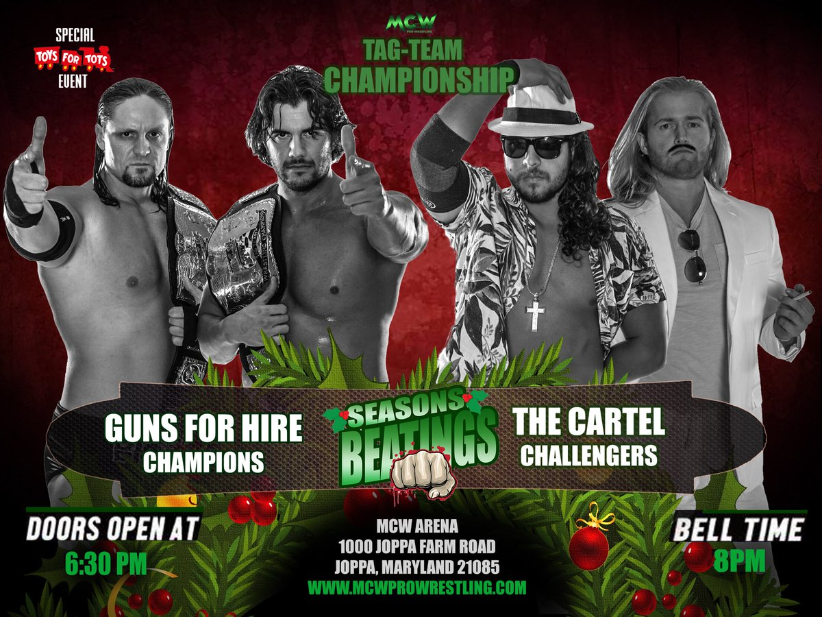 Since aligning w/#MCW Champion @WWEMercury, @CupOfJoeKeys &amp; @DanteCaball3ro have become a well oiled machine. On Fri 12/1 they take on 1 of the most dominant Teams in MCW history - The Guns 4 Hire!  Tickets are On Sale NOW at  http:// MCWProWrestling.com  &nbsp;   #SurvivorSeries #RAW<br>http://pic.twitter.com/bw2wG2pAE1