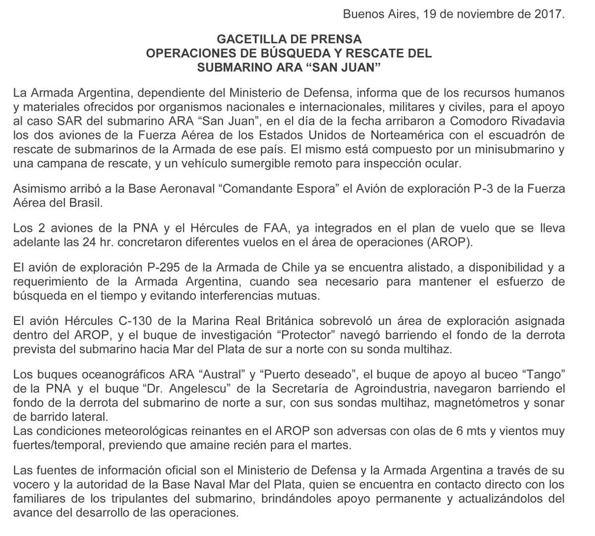 Ara San Juan, el ahora olvidado submarino Argentino desaparecido con 44 tripulantes a bordo DPCmFgfXUAU0Hyw