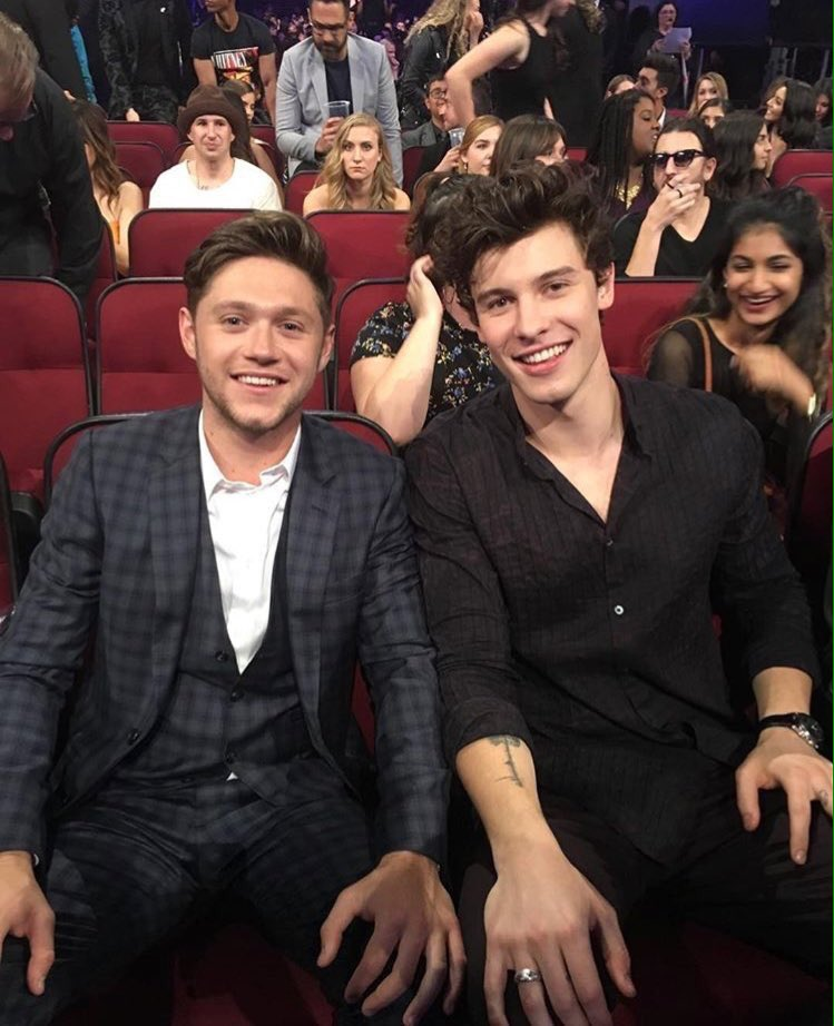Shawn com o Niall nos #AMAs https://t.co/lIsW1wRXcn