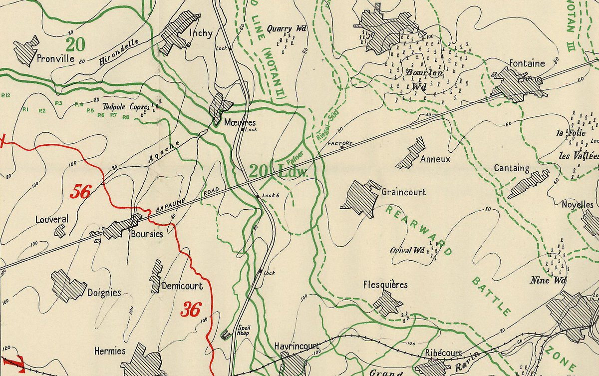 Paul Reed On Twitter Cambrai100 Maps From The British Official Battle Story Cambrai 1917 History Of Ww1 Showing Battlefield At Fought Over Otd In