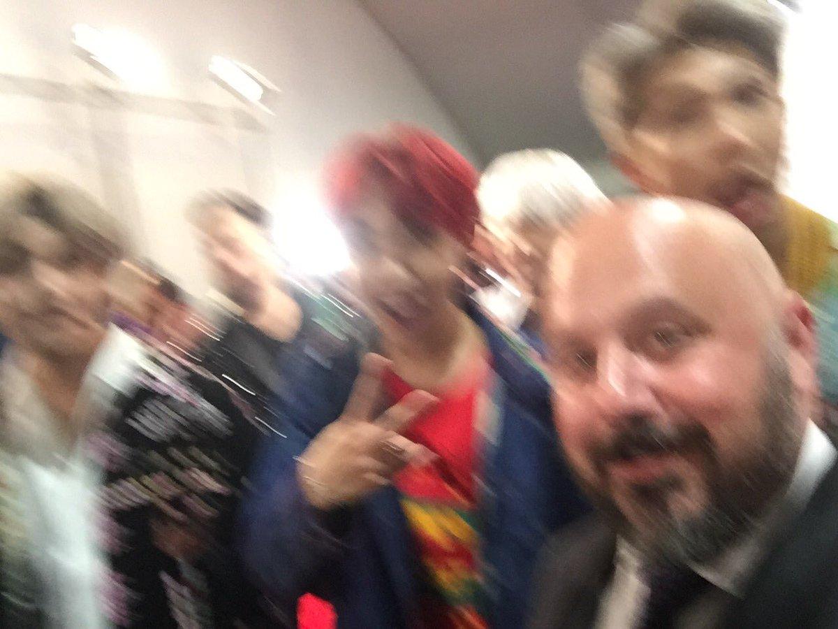 Blurry #bts backstage at the #amas #btsa...