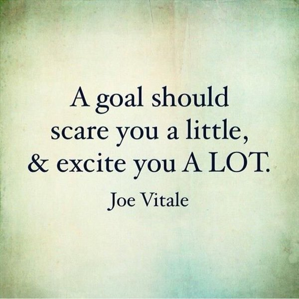 A goal should scare you a little, and excite you A LOT. #ThinkBIGSundayWithMarsha <br>http://pic.twitter.com/g61mkqFtlC