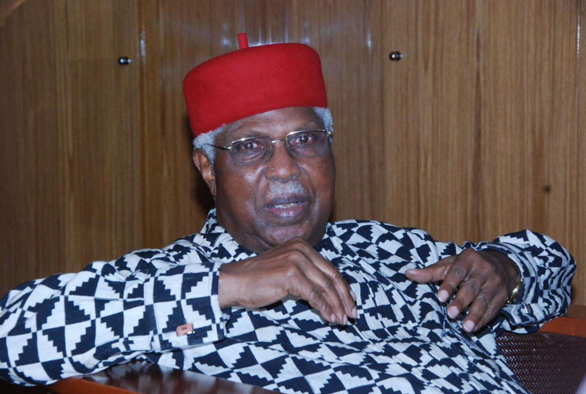 Nigeria's former Vice President of Nigeria, Dr Alex Ifeanyichukwu Ekwueme, is dead. He died at the age of 85.