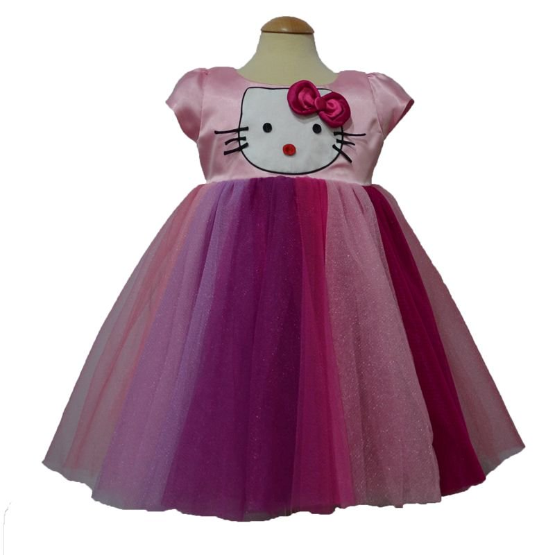 67dd46a05 Simply Cute Hello Kitty Inspired Theme Frock (Baby Pink) Visit:  http:simplycute.in #frocks #firstbirthdayfrocks #themedresses  #tutustylefrocks ...