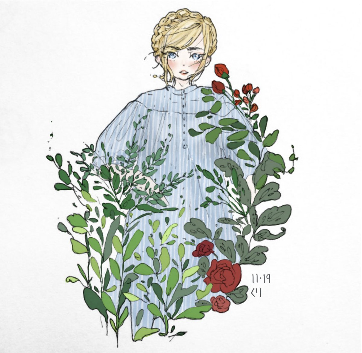 Hello On Twitter Colored Version I M Updating All My Other Social Media Before My Main Instagram This Time Lol Art Aesthetic Plant Plants Aestheticart Flowers Plantaesthetic Animeart Drawing Artist Comic Doodle Https T Co Tbmouvmqba