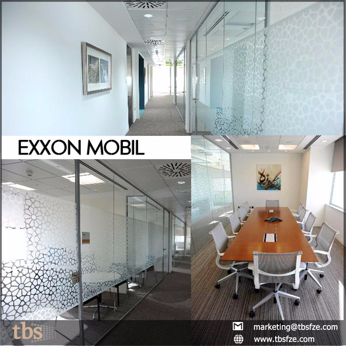 Check out the #interior #FitOut work including #glasspartition, #signage for #ExxonMobil office in #Dubai by #TBS  marketing@tbsfze.com Visit us on  http://www. tbsfze.com  &nbsp;   #FitOut #artwork #graphics #meetingrooms #corridors #InteriorDesign #Interiors #Design #UAE<br>http://pic.twitter.com/dCExj0Mt4e