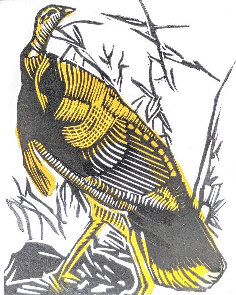 Seasonally appropriate woodcut / linocut rendering of Audubon. . . . . #wip #woodcut #handprinted #carve #wood #expressionist #reliefprint #xilogravura #linocut #paperprint #printmaking #intaglio #intaglioprint  #grabado #S&amp; #holzschnittkünstler #lino #d…  http:// ift.tt/2zVEEvd  &nbsp;  <br>http://pic.twitter.com/5OfKHRXduW