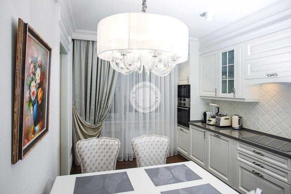 однажды дизайн штор для кухни белого цвета фото работы выполняются нашими