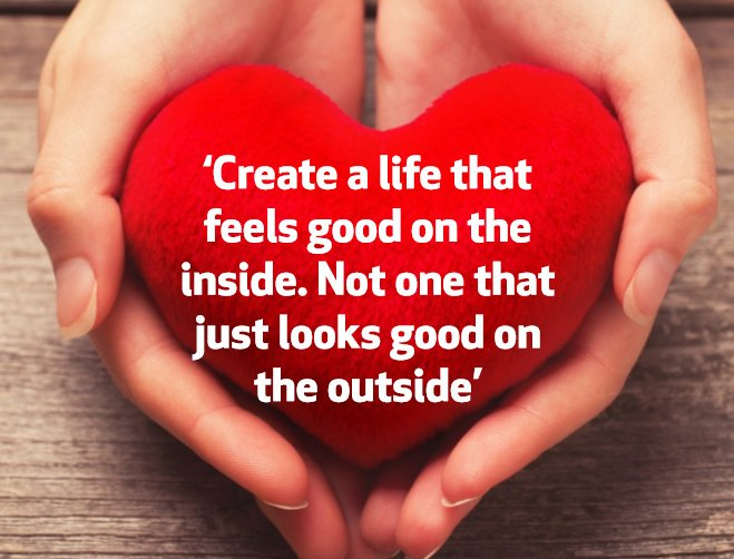 Inspirational Quotes On Twitter Create A Life That Feels Good On
