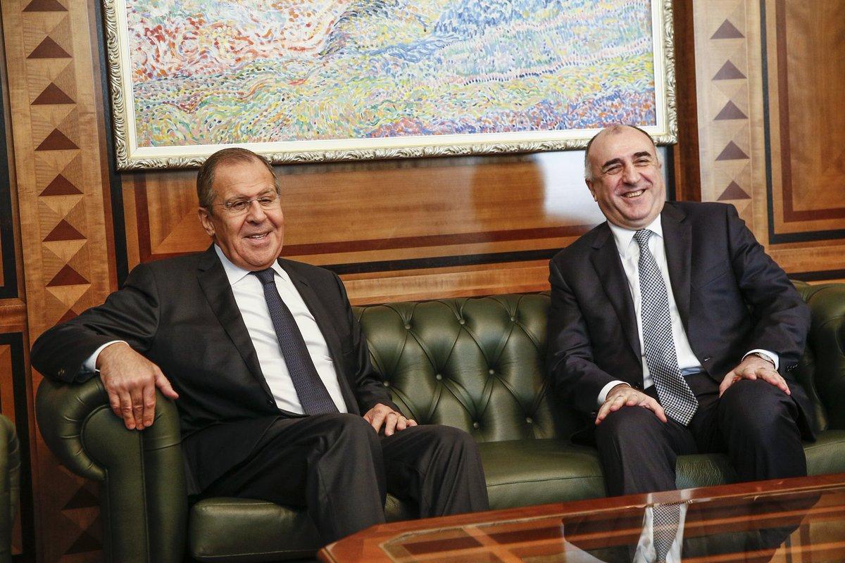 Mfa Russia On Twitter Sergey Lavrov Met With Azerbaijani Fm Elmar Mammadyarov During His Visit To Baku