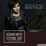 Mizoram Winter Festival 2017 : Crystal Malsawmi Renthlei - A young spirited artist who had been doing her round of rendevous around various parts of India by her charming voice. #lineup_2017 #winterfestival2017 #tuirialairfield #visitmizoram