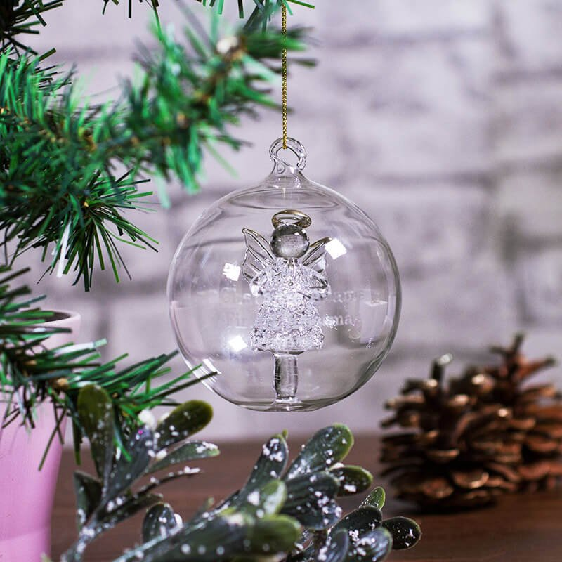 Feeling festive? Follow, RT and like for your chance to #win your own Personalised Glass Angel Bauble  Now with 10% off using code BAUBLE  http:// bit.ly/2AJ0MJi  &nbsp;  <br>http://pic.twitter.com/wXwd8c47RJ