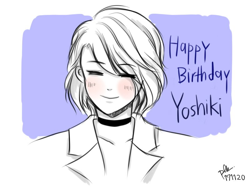Happy Birthday to you! @YoshikiOfficial, LOVE.   #yoshiki #HBDYOSHIKI #xjapan #doodles<br>http://pic.twitter.com/rcNZ6VPsoW