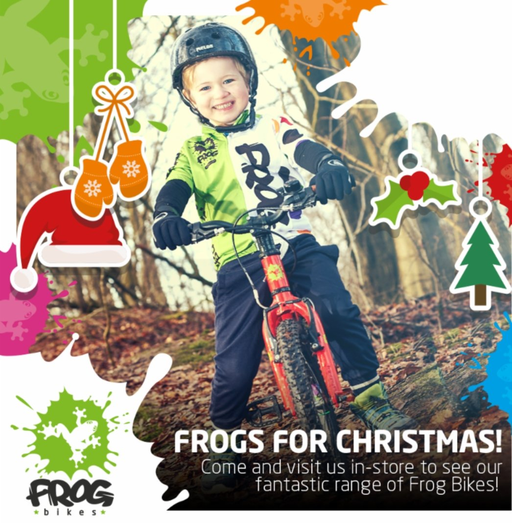 Buy for #Christmas today. A 20% deposit secures any bike. Store with us until #Xmas Eve. All bikes come built and ready to ride. #frog #frogbikes #teamsky @frogbikes<br>http://pic.twitter.com/T4DreVuGhT