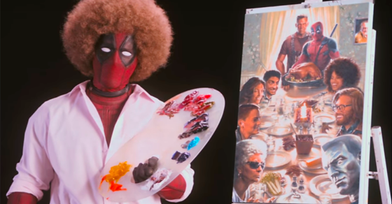 In a new wacky as hell @deadpoolmovie teaser, @VancityRenyolds goes full Bob Ross #Deadpool2 https://t.co/j7DloG0UIa