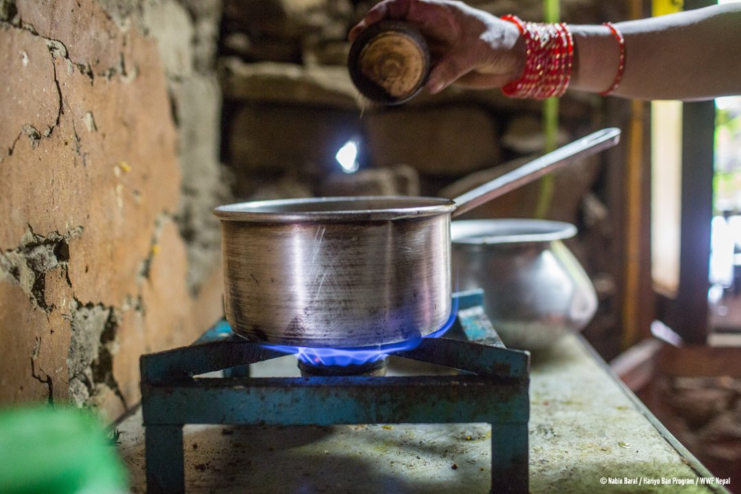 173,860 people have benefited from #alternativeenergy solutions such as ICS and #biogas under #HariyoBanProgram reducing pressure on #forests. #USNP70<br>http://pic.twitter.com/CtZz0wD3IW