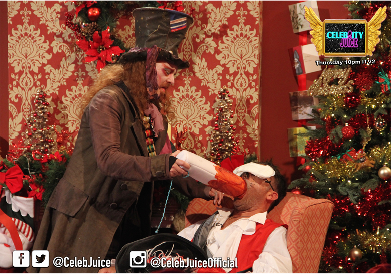 .@ginofantastico is having a MASSIVELY fun #FestivePeriod #CelebJuice https://t.co/qViALqCbCB