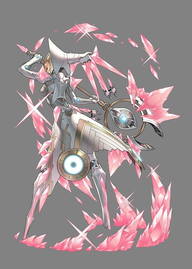 「メノウ」は、鉱石でできた斧を扱うレアブレイドですも。 こちらもデザインはコザキユースケさん、ボイスは種﨑敦美さんですも。