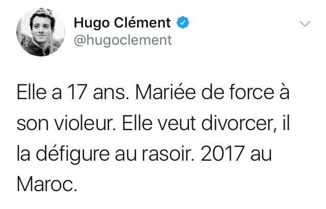 Elle a 25 ans. En couple avec un policier. Elle veut le quitter, il tue son père, deux voisins et la blesse grièvement, elle, sa sœur et sa mère. 2017, en France. ( N'effacez plus vos tweets @hugoclement )