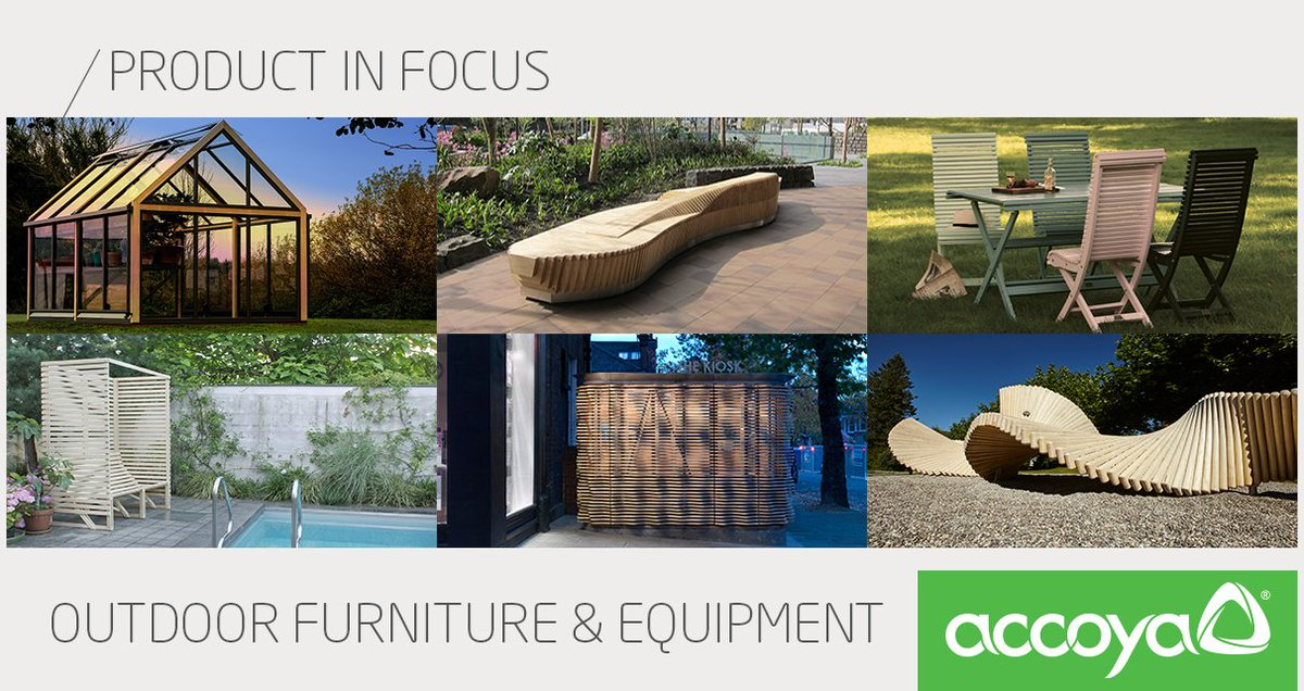 Product in Focus: #Outdoor #Furniture &amp; Equipment #Accoya wood's sustainable, durable and non-toxic properties make it the ideal material for a range of products including, #tables #planters and #chairs … take a look at these projects for inspiration:  http:// bit.ly/2z7N3NE  &nbsp;  <br>http://pic.twitter.com/zX25HpXyG6