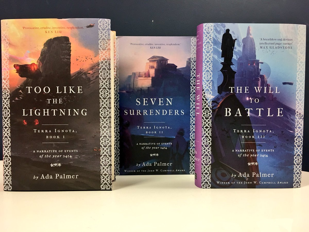 """Goldsboro Books on Twitter: """"Seven Surrenders and The Will to Battle by  @Ada_Palmer - Exclusive signed and numbered edition.  https://t.co/ortbABFmck… ..."""
