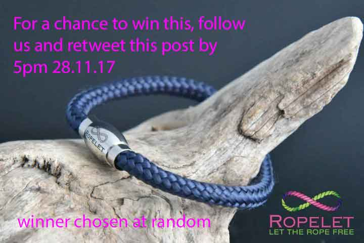 For a chance to #win this Ropelet in our #Competition follow us and  retweet this post by 5pm 28.11.17. Winner chosen at random from correct entries. See  http:// ropelet.co.uk  &nbsp;   for our amazing rope and leather bracelets<br>http://pic.twitter.com/KiJdoEw1hS