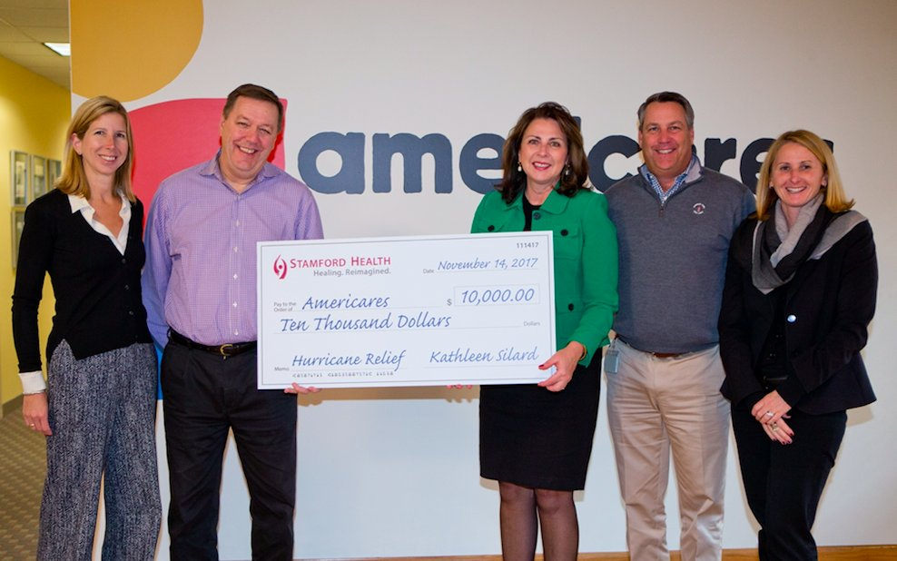 Many thanks to the @StamfordHosp for supporting our #Americares hurricane relief efforts | #HoustonStrong #IrmaRecovery #PuertoRicoSeLevanta<br>http://pic.twitter.com/cIiPgen72E