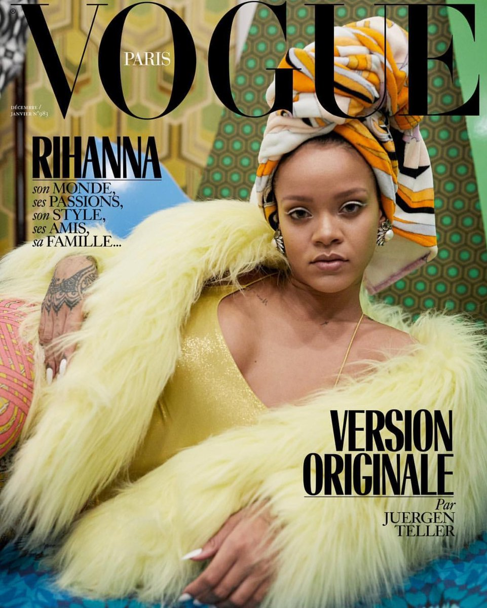 Rihanna has 3 covers for the VOGUE Paris...